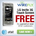 Wirefly - Free LG Incite 3G Touch Screen Phone for current or new AT&T customers